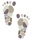 Stepping Stone Support Center Foot Icon